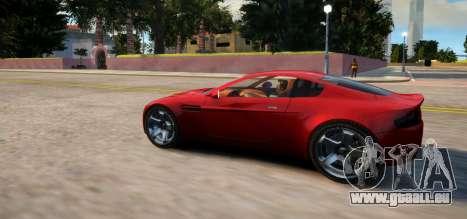 Aston Martin DB9 Vice City Deluxe pour GTA 4 Vue arrière de la gauche