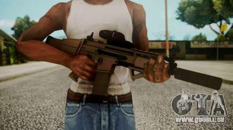 SCAR-L Custom pour GTA San Andreas troisième écran