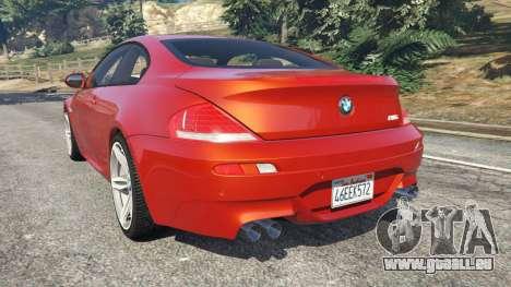 GTA 5 BMW M6 (E63) Tunable v1.0 arrière vue latérale gauche