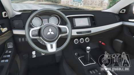 GTA 5 Mitsubishi Lancer Evolution X FQ-400 volant
