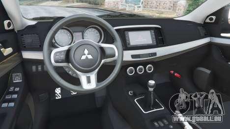 Mitsubishi Lancer Evolution X FQ-400 für GTA 5