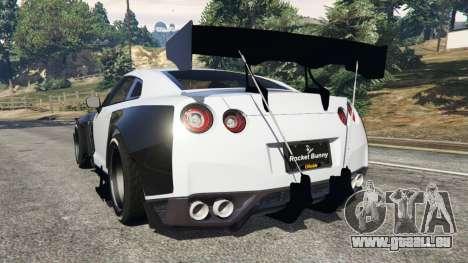 GTA 5 Nissan GT-R (R35) [RocketBunny] v1.2 hinten links Seitenansicht