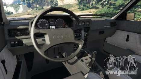 GTA 5 Audi Sport quattro v1.4 hinten rechts
