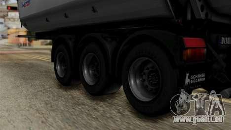 Schmied Bigcargo Solid Trailer Stock pour GTA San Andreas sur la vue arrière gauche