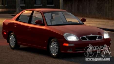 Daewoo Nubira II Sedan SX USA 2000 pour GTA 4