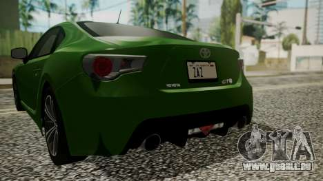 Toyota GT86 2012 pour GTA San Andreas vue de dessus