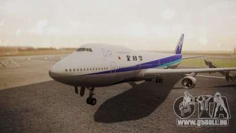 Boeing 747SR All Nippon Airways (NC) für GTA San Andreas linke Ansicht
