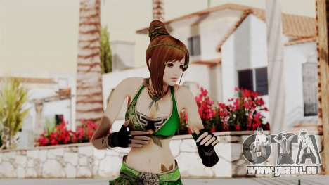 Dynasty Warriors 8 - Bao Sannian Green Costume pour GTA San Andreas