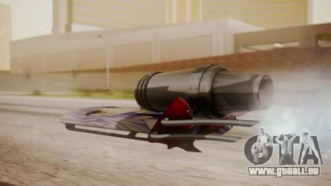 Hovercraft Anime pour GTA San Andreas laissé vue