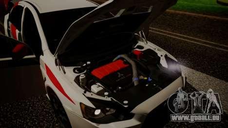 Mitsubishi Lancer Evolution X 2015 Final Edition für GTA San Andreas Innenansicht