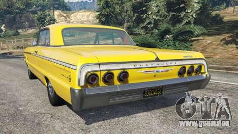 GTA 5 Chevrolet Impala SS 1964 hinten links Seitenansicht