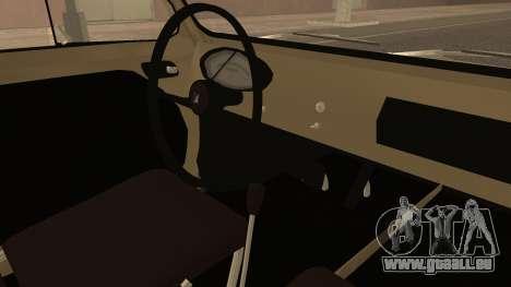 Vespa 400 1958 pour GTA San Andreas vue de droite