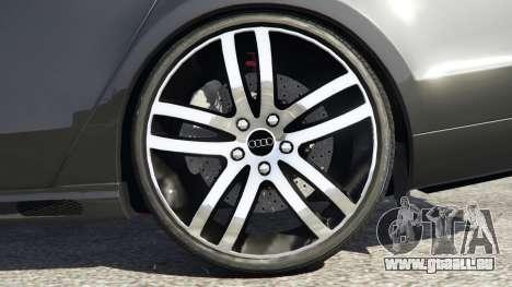 GTA 5 Audi A8 arrière droit vue de côté