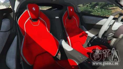 GTA 5 Ferrari LaFerrari 2013 v3.0 avant droite vue de côté