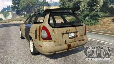 GTA 5 Daewoo Nubira I Wagon CDX US 1999 [Rusty] hinten links Seitenansicht