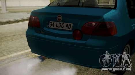 Fiat Albea Sole für GTA San Andreas Rückansicht