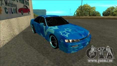 Nissan Silvia S14 Drift Blue Star pour GTA San Andreas laissé vue