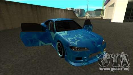 Nissan Silvia S15 Drift Blue Star für GTA San Andreas Seitenansicht
