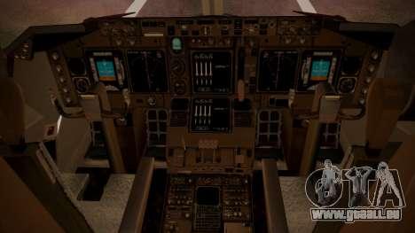 Boeing 747SP ER Airways für GTA San Andreas Rückansicht