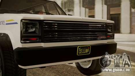 GTA 5 Declasse Rancher XL Police IVF pour GTA San Andreas vue arrière