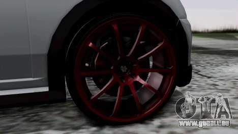 Mini Cooper S Weeny Issi pour GTA San Andreas sur la vue arrière gauche