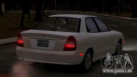 Daewoo Nubira II Sedan SX USA 2000 pour GTA 4 est un droit