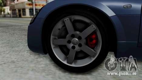 Opel Speedster Turbo 2004 Stock pour GTA San Andreas sur la vue arrière gauche