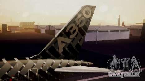 Airbus 350-900XWB MSN2 Carbon Livery für GTA San Andreas zurück linke Ansicht
