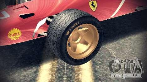 Ferrari 312 F1 pour GTA San Andreas vue de droite