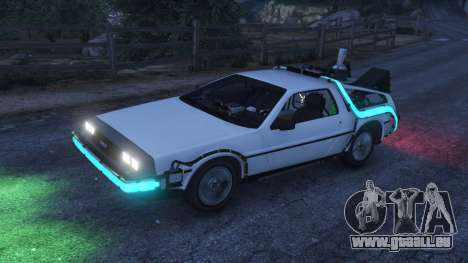 GTA 5 DeLorean DMC-12 Back To The Future v0.5 droite vue latérale