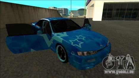 Nissan Silvia S14 Drift Blue Star für GTA San Andreas Seitenansicht