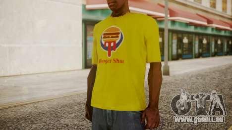 Burger Shot T-shirt Yellow für GTA San Andreas zweiten Screenshot