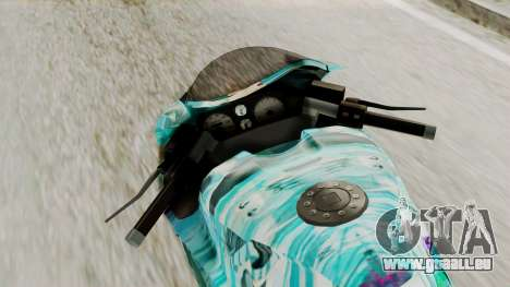Bati Motorcycle Hatsune Miku Itasha pour GTA San Andreas vue arrière