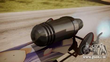 Hovercraft Anime pour GTA San Andreas sur la vue arrière gauche