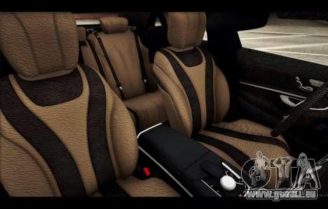 Mercedes Benz S63 W222 Des Articles De Qualité pour GTA San Andreas salon