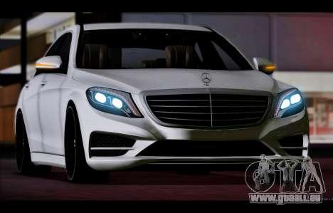 Mercedes Benz S63 W222 Des Articles De Qualité pour GTA San Andreas laissé vue