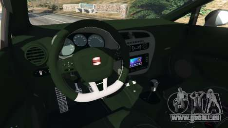 GTA 5 SEAT Leon II 2010 v1.1 hinten rechts