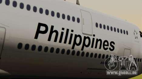 Boeing 747-8I Philippine Airlines für GTA San Andreas Rückansicht