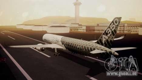 Airbus 350-900XWB MSN2 Carbon Livery für GTA San Andreas linke Ansicht