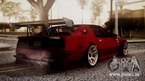 Buffalo R3 (Highly Tuned) pour GTA San Andreas laissé vue