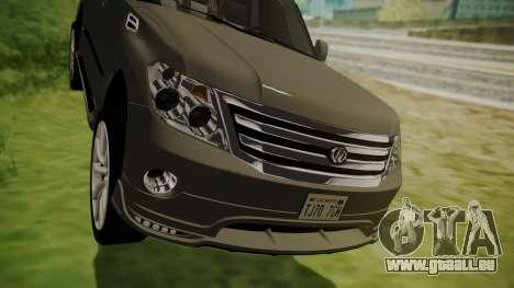 Nissan Patrol IMPUL 2014 für GTA San Andreas Innenansicht