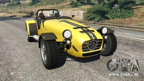Caterham Super Seven 620R v1.5 [yellow] pour GTA 5