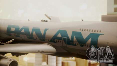 Boeing 747-100 Pan Am Clipper Juan T. Trippe pour GTA San Andreas vue arrière