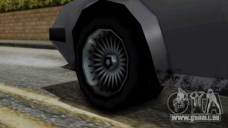 Deluxo from Vice City Stories pour GTA San Andreas sur la vue arrière gauche