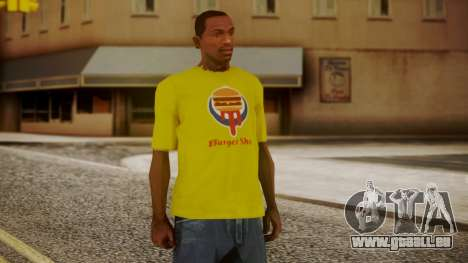 Burger Shot T-shirt Yellow für GTA San Andreas