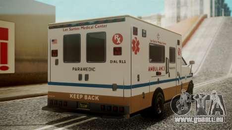 GTA 5 Brute Ambulance für GTA San Andreas linke Ansicht