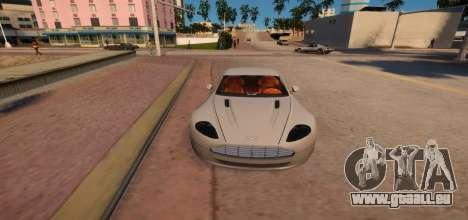 Aston Martin DB9 Vice City Deluxe pour GTA 4 est une vue de l'intérieur