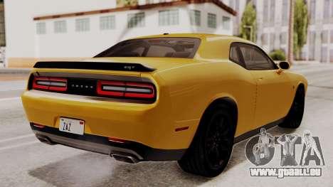 Dodge Challenger SRT Hellcat 2015 IVF PJ pour GTA San Andreas laissé vue