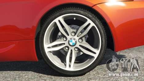 GTA 5 BMW M6 (E63) Tunable v1.0 arrière droit vue de côté