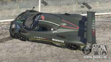 GTA 5 Pagani Zonda R 2009 v0.5 vue arrière